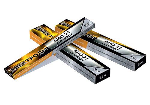 Электроды для сварки углеродистых и низколегированных сталей АНО-21 СТАНДАРТ (1 кг), d.2,5мм